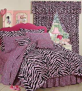 Pink Zebra 6 Pc EXTRA LONG TWIN Comforter Set (Comforter, 1 Flat Sheet, 1 Fitted Sheet, 1 Pillow Case, 1 Sham, 1 Bedskirt) SAVE BIG ON BUNDLING!