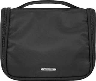 Travelon Essential Hanging Toiletry Kit, Black, 9.25 x 7 x 4.25