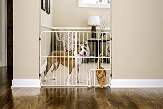 Carlson Extra Tall Metal Expandable Pet Gate Beige, 32 x 22-38