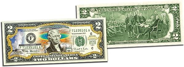 yellowstone national park two dollar bill