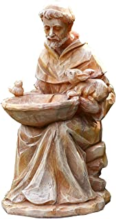 """Best Napco 18062 Sitting St. Francis with Animals and Bird Feeder Garden Statue, 11.5"""" Review"""