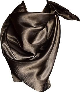 Elegant Large Silk Feel Solid Color Satin Square Scarf Wrap 36