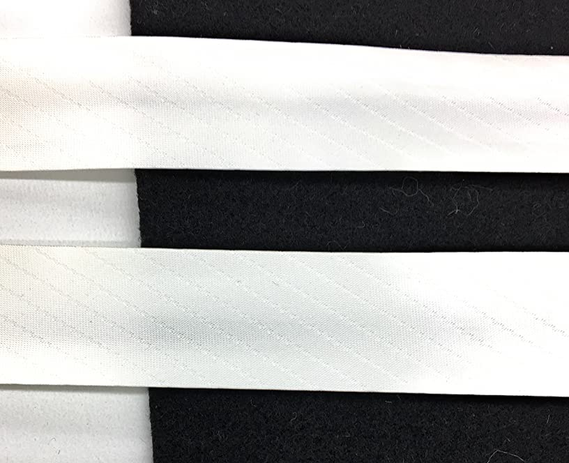 Off White Satin Foldover Ribbon Trim, Clothing, Pillows, Drapes - 5 Yds -Satin fold-Over