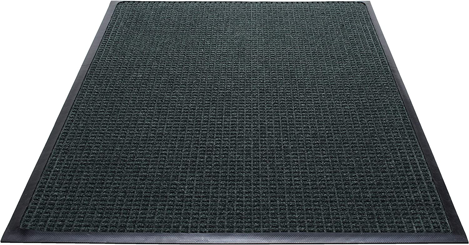 Guardian WaterGuard Indoor Outdoor Wiper Scraper Floor Mat, Rubber Nylon, 3'x4', Green