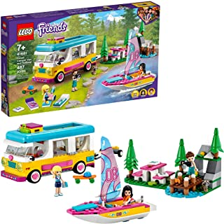 LEGO Friends Forest Camper Van and Sailboat 41681...