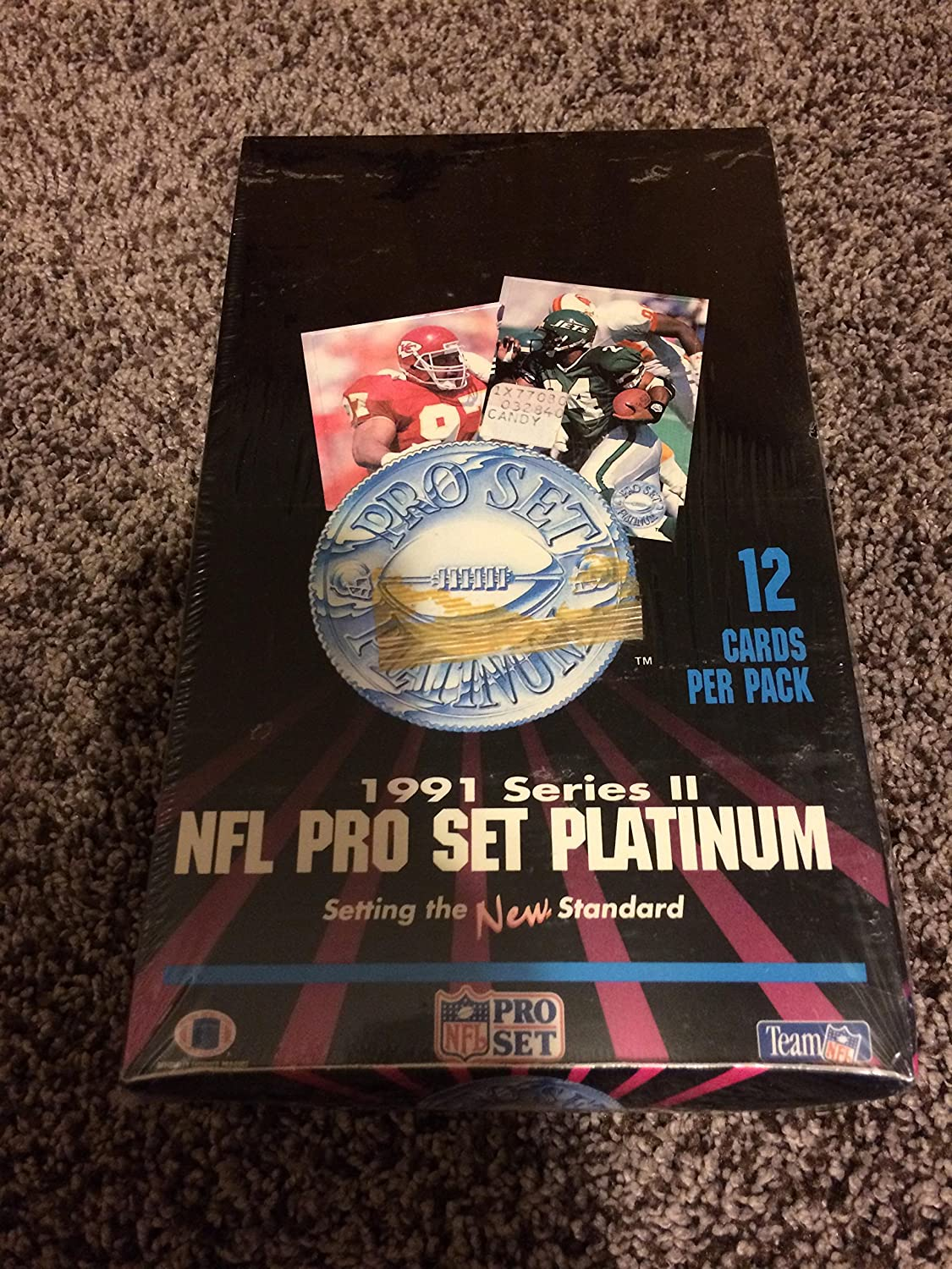 1991 Series II NFL Pro Set Platinum Sealed Box (36 packs of 12 cards)