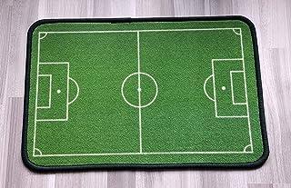 Gnisbvo - Felpudo para Interior y Exterior, diseño de Campo de fútbol, Rectangular, 60 x 40 cm