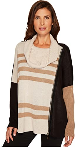 Ivanka Trump - Cowl Neck Bat Wing Stripe Sweater