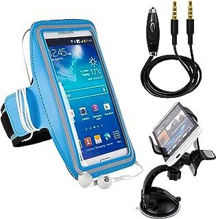 Motorola e3/ g4再生/ s60/ Lumia 650/ルージュ/ k4000/ y27lアームバンド、アウトドアジョギングExcercise Sportsbandハイキングストラップ[キーホルダー] + AUXケーブル+カーマウント 4327103729
