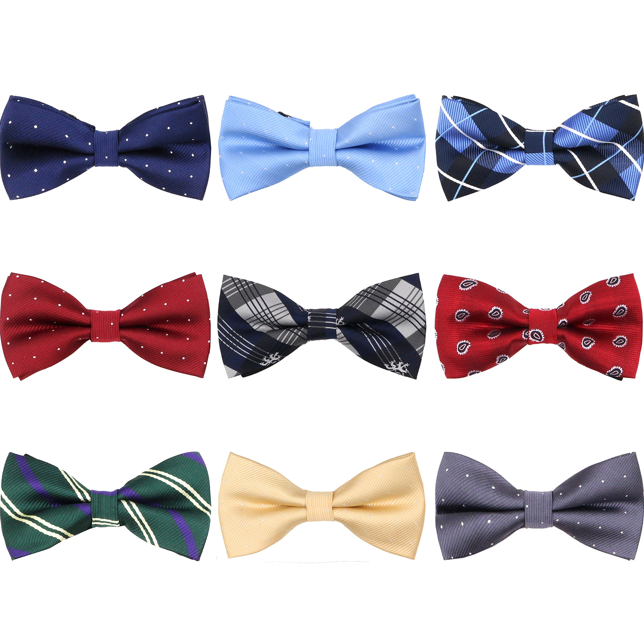 Fish-bone bow tie pattern ichthyology pre-tied shape by Bow Tie House Large,