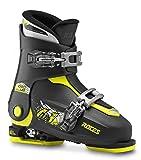 Roces Kinder Skischuhe Idea Up Größenverstellbar, Black-Lime, 30/35, 450491-01