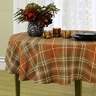 Elrene Home Fashions Loden Plaid Fall Tablecloth, 60