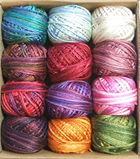 Valdani Luxury Silk Floss Summer Flowers 6 Strand Thread Hand-dyed 12 Spool VAK1007