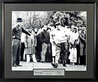 "Arnold Palmer & Jackie Gleason ""And away we go!"" 11x14 Photograph (SG Signature Engraved Plate Series) Framed"