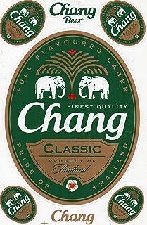 DD Chang Bier Beer Classic Sticker Aufkleber Folie 1 Blatt 270 mm x 180 mm wetterfest