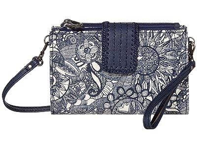 Sakroots Olympic Smartphone Crossbody (Navy Spirit Desert) Handbags