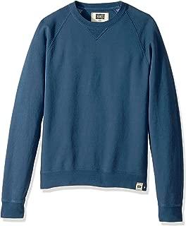 Hanes Men's 1901 V-Notch Raglan Sweatshirt, Indigo Batik Blue, X-Large