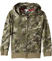 Splendid Littles - Camo Hoodie Zip-Up Jacket (Little Kids/Big Kids)