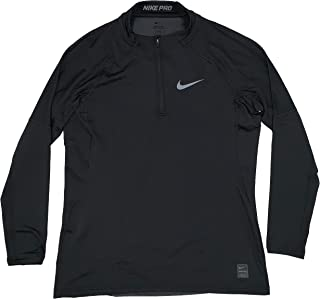 Men's Pro Hyperwarm Fitted Quarter Zip Advance Performance Pullover Shirt Black AQ4905-010