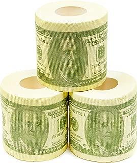 Hundred Dollar Money Toilet Paper Roll 4 Pack - Funny Toilet Paper