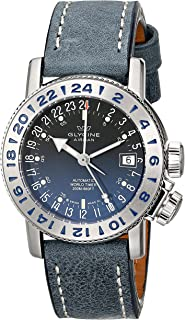 Glycine Unisex 3918-18-LB8B Airman Analog Display Swiss Automatic Blue Watch