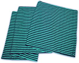 Superior 100% Thermal, Soft and Breathable Cotton for All Seasons, Bed and and Oversized Throw Blanket with Woven Stripe P...