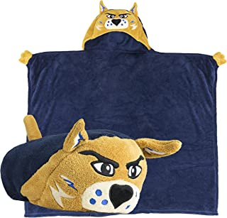 Comfy Critters Stuffed Animal Blanket - College Mascot, University of Arizona 'Wilbur The Wildcat' - Kids Huggable Pillow and Blanket Perfect for The Big Game, Tailgating and Much More