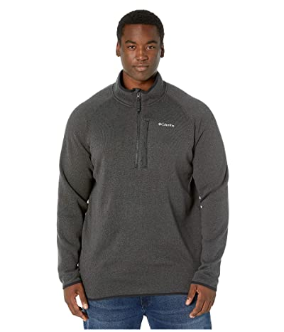Columbia Big Tall Canyon Pointtm Sweater Fleece 1/2 Zip (Black) Men
