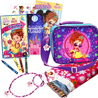 Fancy Nancy Soft Rectangular Insulated Lunch Bag Set - Bundle includes Fancy Nancy Play Pack and Fancy Nancy Necklace