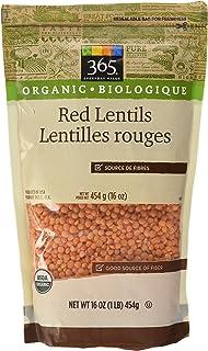 365 Everyday Value Organic Red Lentils, 16 oz