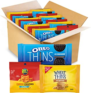 Sponsored Ad - OREO Thins Chocolate Sandwich Cookies, RITZ Cheddar Flavor Cheese Crispers Chips and Wheat Thins Crackers V...