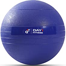 Day 1 Fitness Weighted Slam Ball - 9 Weight, 3 Color and Bundle Options - No Bounce Medicine Ball - Gym Equipment Accessor...