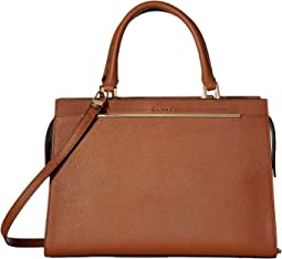Calvin Klein - Cindy Bar Trim Saffiano Satchel