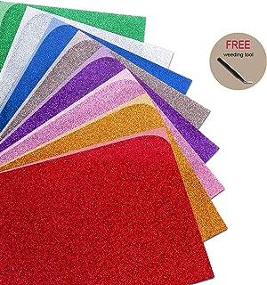 Glitter Heat Transfer Vinyl Bundle for T Shirts Fabric 12x10