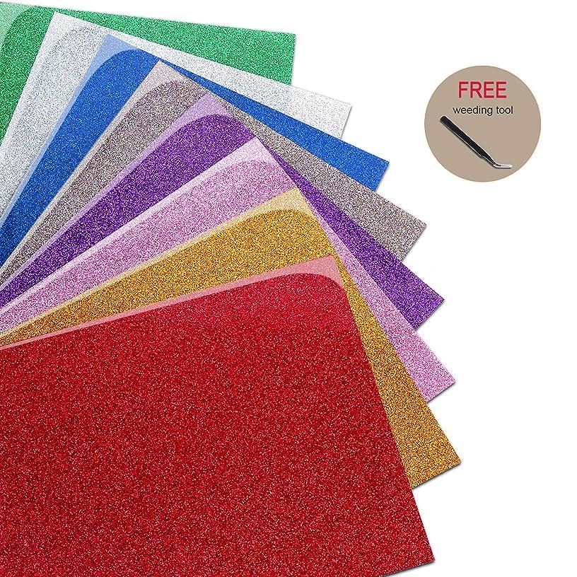 Mashup Glitter Holographic Heat Transfer Vinyl Bundle 8 Sheets  Assorted Colors 12