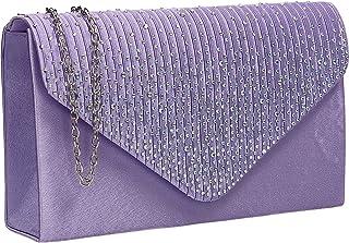 SwankySwans Abby Diamante Envelope Style Bag Tasche