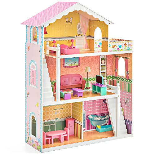 Wooden Barbie Doll House Amazon Com