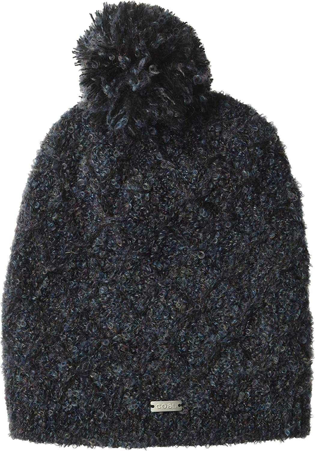 Coal Junior's The Sophie Cable Knit Beanie Hat Pom, Navy, Slouchy