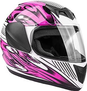 Typhoon Youth Full Face Motorcycle Helmet Kids DOT Street - Ships Same Day - Pink (XL)