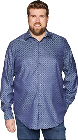 Big & Tall Diamante Long Sleeve Woven Shirt