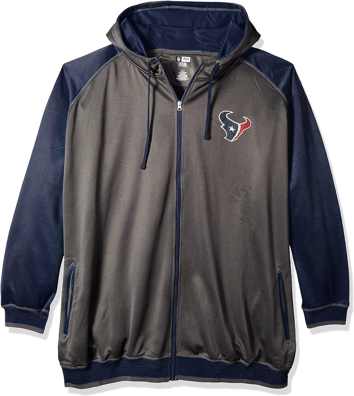 NFL Mens Texans Full Zip Poly Fleece Raglan