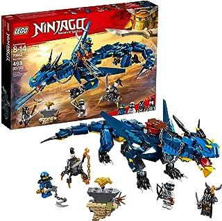 LEGO NINJAGO Masters of Spinjitzu: Stormbringer 70652 Ninja Toy Building Kit with Blue Dragon Model for Kids, Best Playset Gift for Boys (493 Piece) (Renewed)