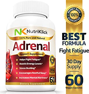 Adrenal Fatigue - Support - Health Supplement - Helps fight Stress & Mood swings - Boost Energy & Mental Alertness - Encourages Restful Sleep - Increases Concentration - 30 Day Supply
