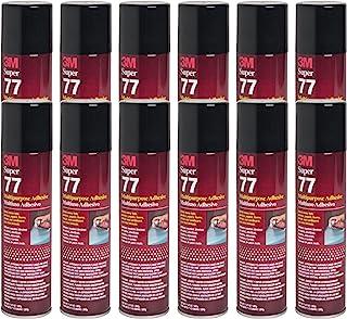 (Pack of 12) 3M SUPER 77 Spray Glue 7.3 oz Adhesive for Foil Plastic Paper Foam Metal