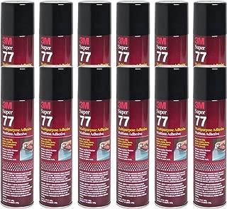 3M SUPER 77 Spray Glue 7.3 oz Adhesive for Foil Plastic Paper Foam Metal (Pack of 12)