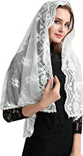 Mantilla Veil Catholic Lace Chapel Veil Mass veil Catholic Church Mantilla V28