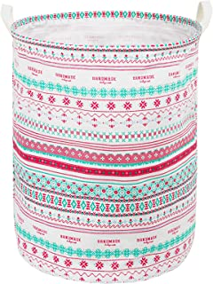 Zonyon Collapsible Laundry Hamper, 15.7'' Jumbo Large Dirty Clothes Laundry Storage Basket for Kids,Boys,Girls,Toys,Closet,College Dorm,Bathroom,Pink