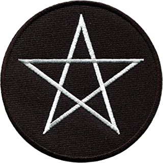 Wiccan pentagram pagan pentacle wicca witchcraft embroidered applique iron-on patch new