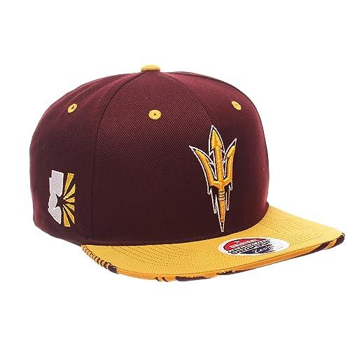 61c6c250 Zephyr NCAA Mens Drop Step Snapback Hat