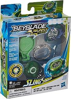 پشت سر هم BEYBLADE پشت سرهم Slingshock Rip Fire Forneus F4: بالا روشنایی با پرتاب راست / چپ-چرخش ، سن 8+